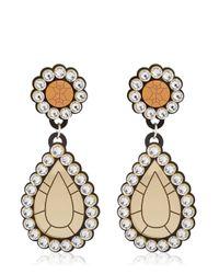 "Yazbukey | Metallic ""gold Diamonds"" Drop Earrings | Lyst"