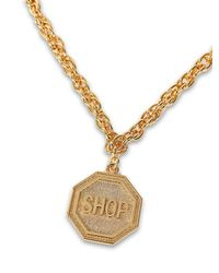 Moschino - Metallic Shop Sign Necklace - Lyst