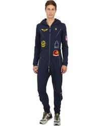 OnePiece Blue Aviator Cotton French Terry Jumpsuit
