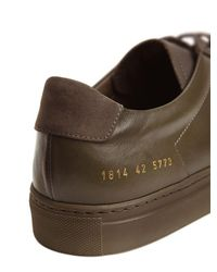 Common Projects Green Achilles Leather Low-Top Sneakers for men