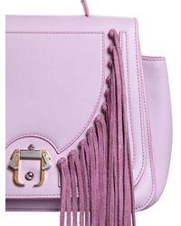 Paula Cademartori - Pink Abela Fringed Leather Shoulder Bag - Lyst