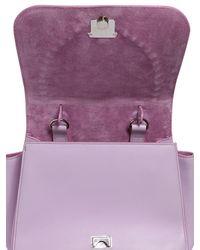 Paula Cademartori Pink Abela Fringed Leather Shoulder Bag