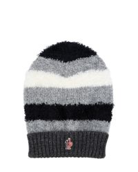 3abd326606a Moncler Grenoble Wool Hat in Gray - Lyst