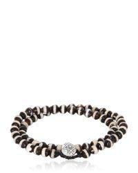 Luis Morais | Black Bi-colour Bead And White-gold Bracelet for Men | Lyst