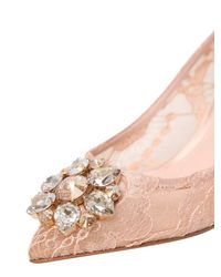 Dolce & Gabbana - Natural Bellucci Embellished Lace Pumps - Lyst