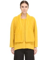 Space Style Concept | Yellow Mohair Wool Blend Coat | Lyst