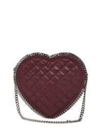 Stella McCartney Purple Heart Quilted Shaggy Faux Deer Bag