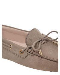 Tod's - Natural Heaven Laccetto Nubuck Driving Shoes - Lyst