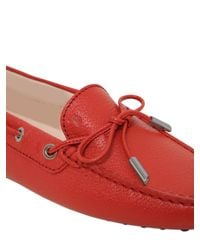 Tod's Orange Heaven Laccetto Leather Driving Shoes