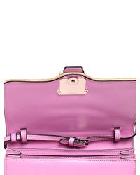 Paula Cademartori Pink Tatiana Leather Shoulder Bag