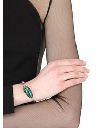 Bibi Van Der Velden - Metallic Scarab & Pearl Bangle Bracelet - Lyst