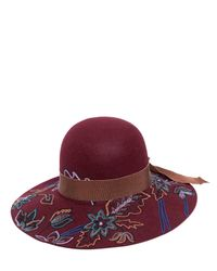 Etro | Multicolor Floral Hand-embroidered Wool Hat | Lyst