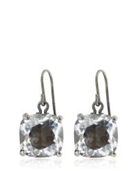 Bottega Veneta | Natural Cubic Zirconia Silver Earrings | Lyst