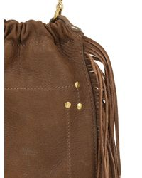 Jérôme Dreyfuss Brown Small Gary Embroidered Leather Bag