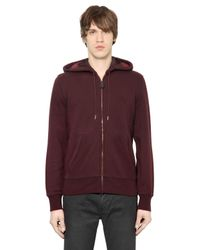 Burberry Brit Purple Zip-Up Cotton-Blend Hoodie for men