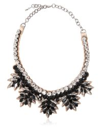 Valentino - Black Swarovski Crystals Necklace - Lyst