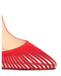 Paul Andrew - Red 105mm Colombus Mirror Cutout Suede Pumps - Lyst