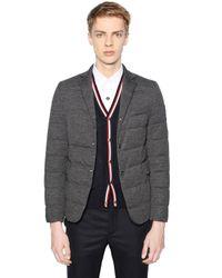 Moncler Gamme Bleu Gray Wool Down Jacket for men