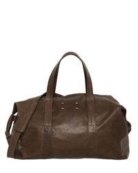 Maison Margiela Brown Soft Leather Sailor Duffle Bag for men