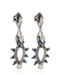 Anton Heunis - Blue Rebel Gold-Plated Earrings - Lyst
