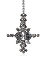 On Aura Tout Vu | Black Patina Cross Pendent Necklace | Lyst