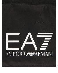 EA7 Black Train Prime Nylon Messenger Bag for men