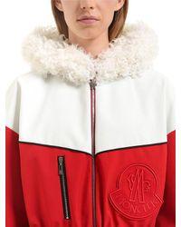 Moncler Gamme Rouge - Red Jiya Kown Hooded Nylon Coat - Lyst