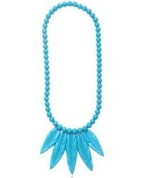 Mariah Rovery Blue Colar Penas Necklace