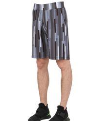Christopher Kane - Gray 3d Bolster Printed Neoprene Shorts for Men - Lyst