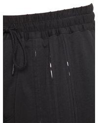 Y-3 Black Lightweight Cotton Jersey Shorts for men