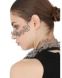 Idriss Guelai Atelier - Metallic Fairy Bustier Body Harness & Mask - Lyst