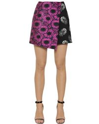 Caterina Gatta | Purple Floral Fil Coupe & Printed Cady Skirt | Lyst