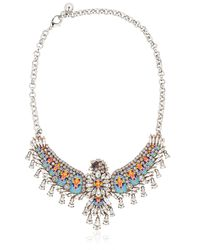 Shourouk | Blue Phenix Necklace | Lyst