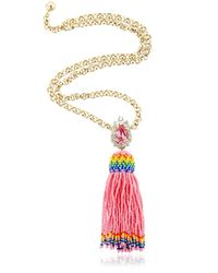 Shourouk | Pink Totem Necklace | Lyst