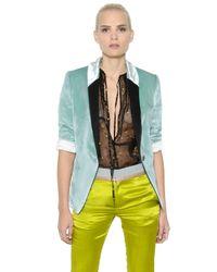 Haider Ackermann | Green Viscose & Silk Fluid Velvet Jacket | Lyst