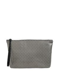 Alexander McQueen | Black Skull Printed Coated Canvas Pouch for Men | Lyst