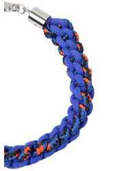 DSquared² | Blue Scoubidou Braided Rope Necklace | Lyst