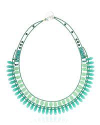 Ziio | Green Mistinguett Beaded Necklace | Lyst