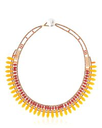 Ziio | Orange Mistinguett Beaded Necklace | Lyst