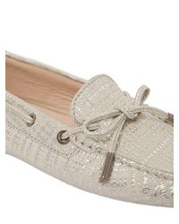 Tod's Gommino Metallic Suede Driving Shoes
