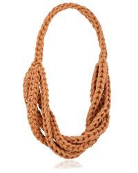 Alienina | Orange Braided Cotton Rope Necklace | Lyst