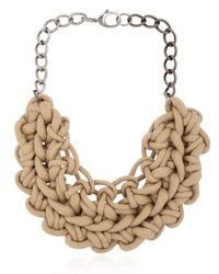 Alienina | Natural Knotted Cotton Rope Necklace | Lyst