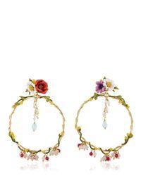 Les Nereides - Multicolor Floraisons Sauvages Earrings - Lyst