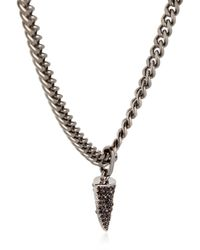 Giuseppe Zanotti - Black Rebel Angel Necklace With Pendant - Lyst
