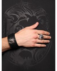 Versus | Metallic Lion Head Ring for Men | Lyst