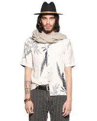 DIESEL | Natural Leaf Printed Viscose Flannel Shirt for Men | Lyst
