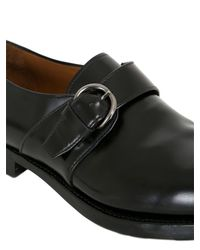 Silvano Sassetti - Black Belted Brushed Leather Brogue Loafers for Men - Lyst