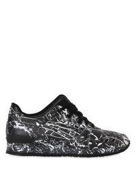 Asics - Black Gel-lyte Iii Marble Leather Sneakers for Men - Lyst