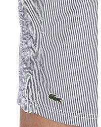 Lacoste Gray Striped Seersucker Swimming Shorts for men