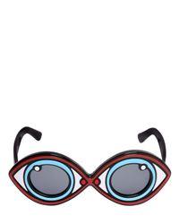 Yazbukey - Black Eye Shape Acetate Sunglasses - Lyst